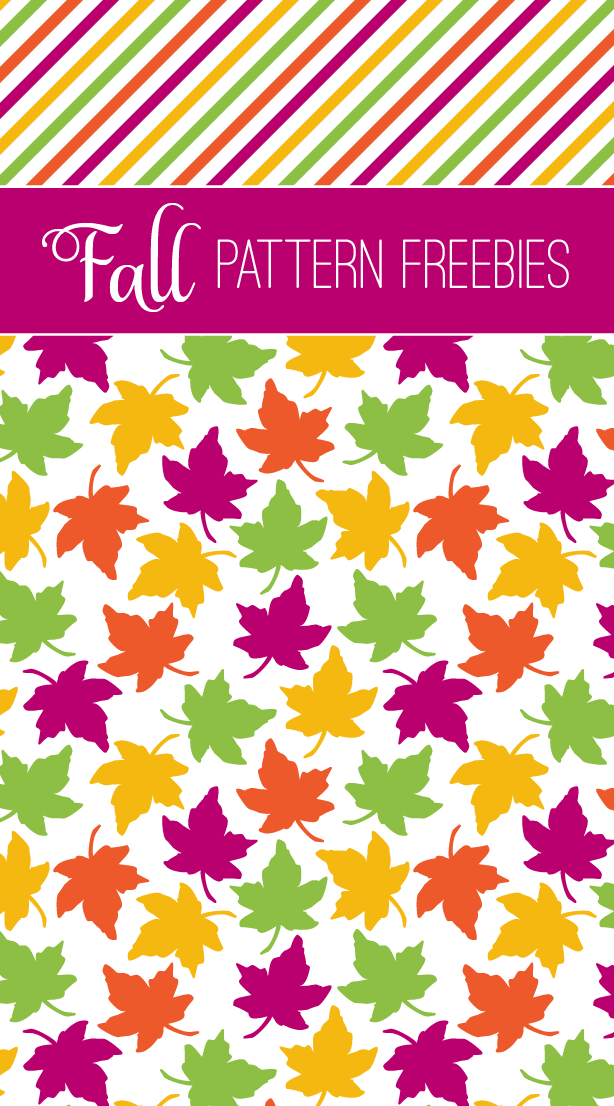 Free Printable Pages of Colorful Fall Patterns from PagingSupermom.com for making a Banner, Napkin Rings and more #thanksgiving #fall #printables #freebies