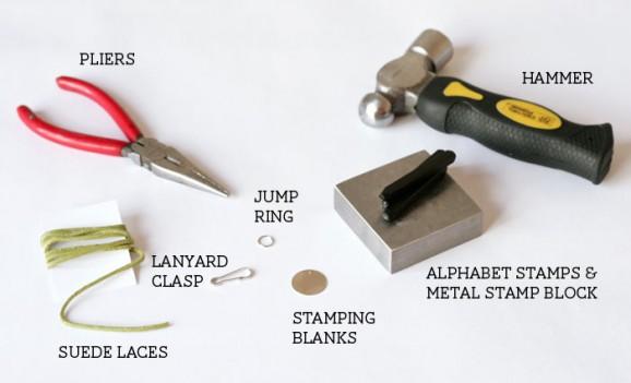 Stamped Friendship Bracelets Tutorial from PagingSupermom.com #metalstamping #friendshipbracelets