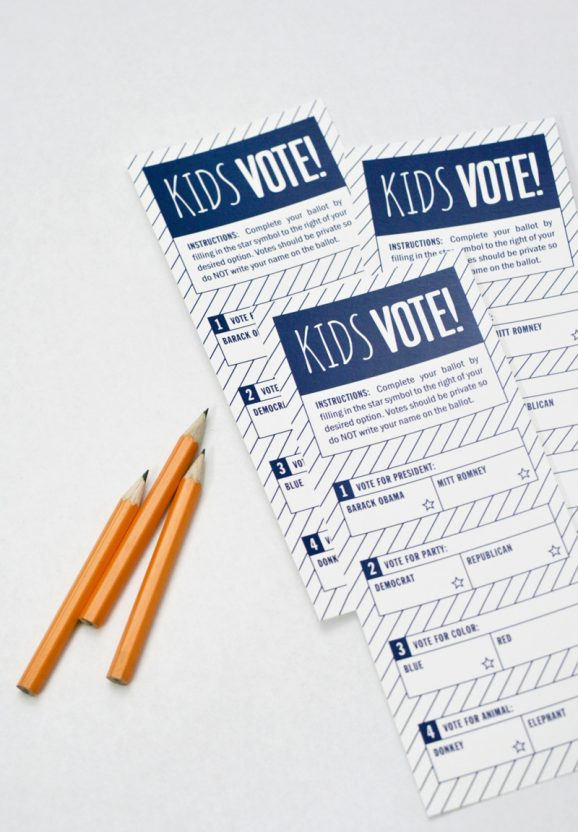 Kids Voting Ballot for Presidential Election 2012 PagingSupermom.com #election #vote #kidsvote #ballot