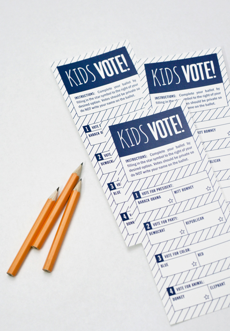 Presidential Election Ballot for Kids
