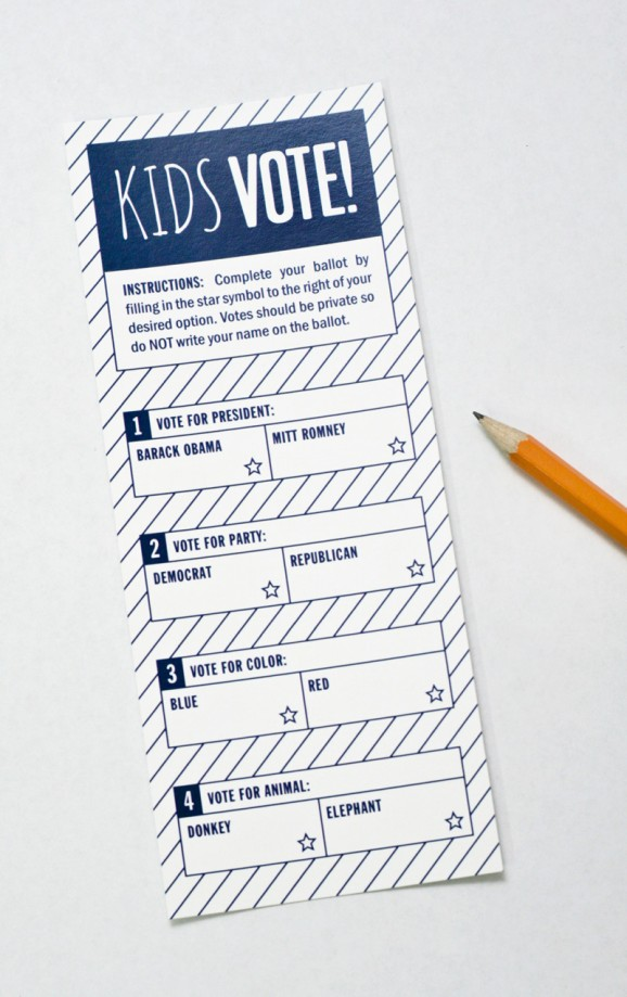 Presidential Election Ballot for Kids - Paging Supermom