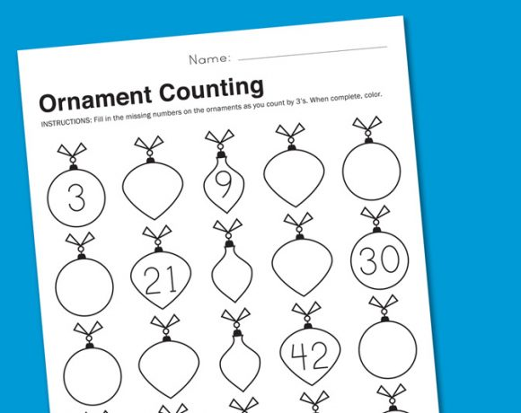 Worksheet Wednesday: Christmas Counting