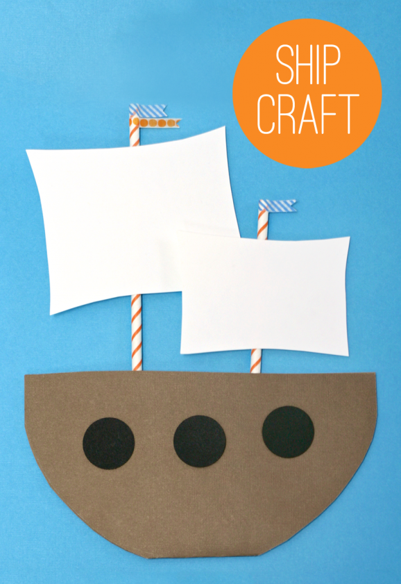 Make a Mayflower - Kids Thanksgiving Craft Idea from PagingSupermom.com #thanksgiving #kidscrafts #mayflower