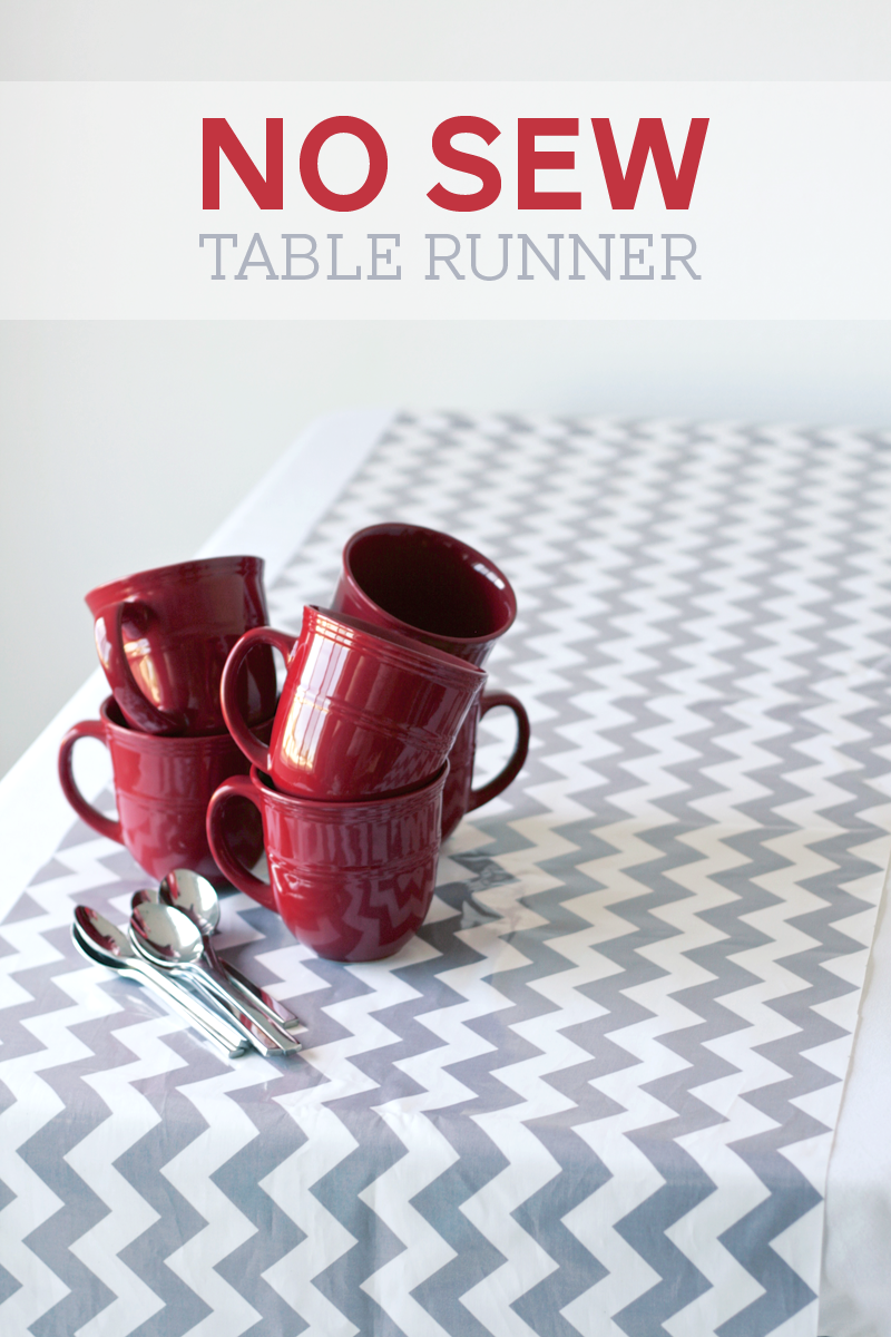 Tutorial for kid-friendly and no-sew Table Runner at PagingSupermom.com #centerpiece #tablerunner #partydecor
