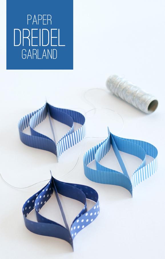 Paper Dreidel Garland Tutorial