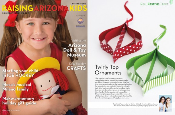 Twirly Top Ornaments from PagingSupermom.com featured in Raising Arizona Kids Mag #christmas #ornaments