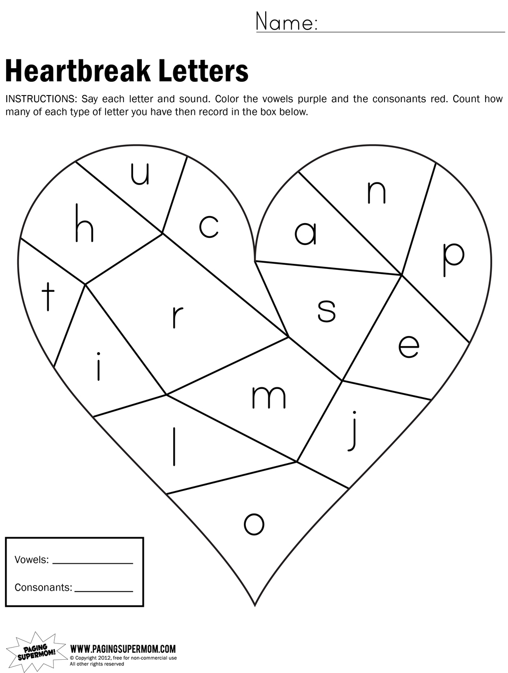 math worksheet : heartbreak letters worksheet : Letters Worksheet For Kindergarten