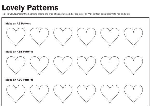 lovely patterns worksheet paging supermom. Black Bedroom Furniture Sets. Home Design Ideas