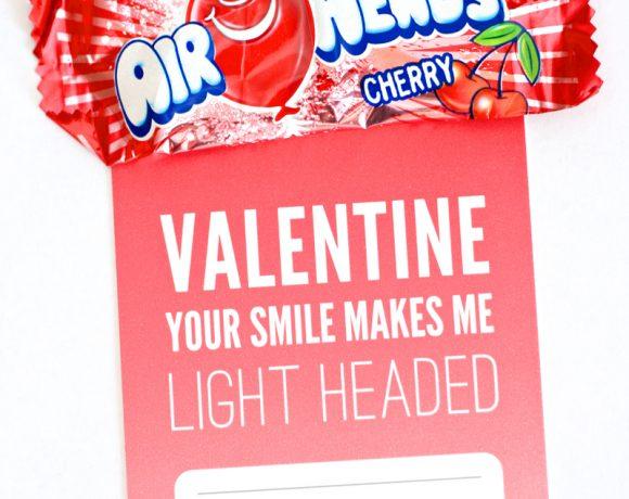 Free Printable Airheads Valentine from PagingSupermom.com #valentines #airheads #freebies