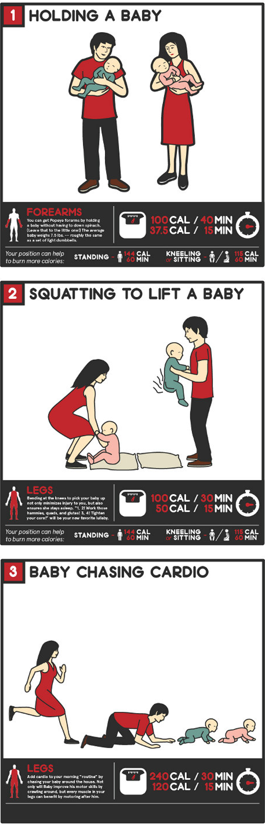Need a laugh? Check out these new Baby Workouts found on PagingSupermom.com #babies #newparents #funny