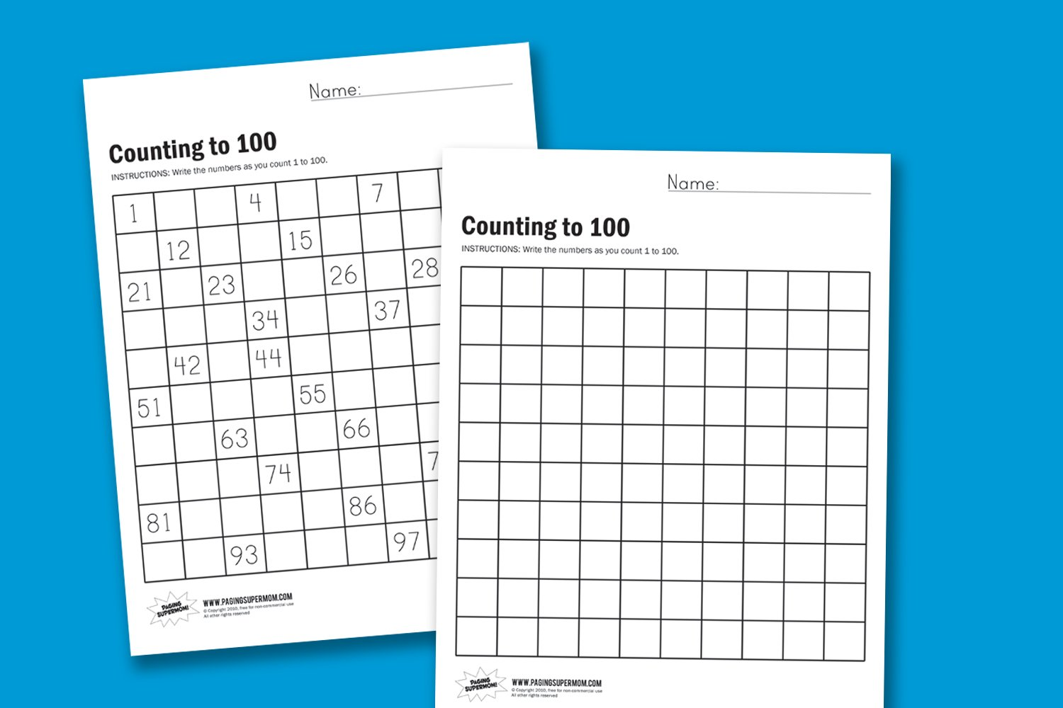 How to Teach Counting to 100 - Paging Supermom