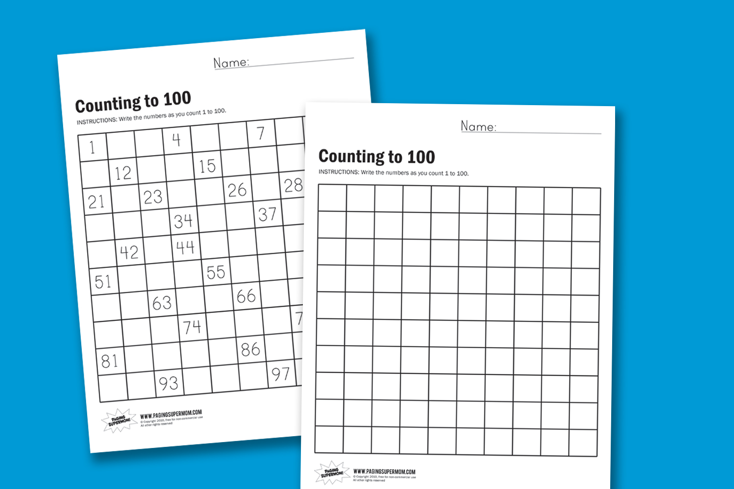 How to Teach Counting to 100 Paging Supermom – Count to 100 Worksheet
