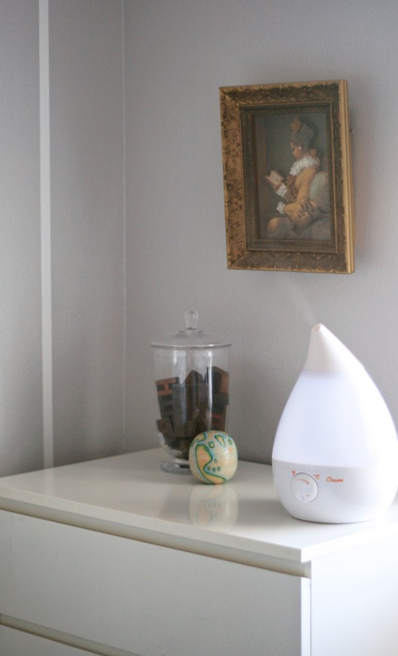 The Prettiest Humidifers & Learn How to Clean a Humidifier at PagingSupermom.com #humidifiers #babynursery #colds