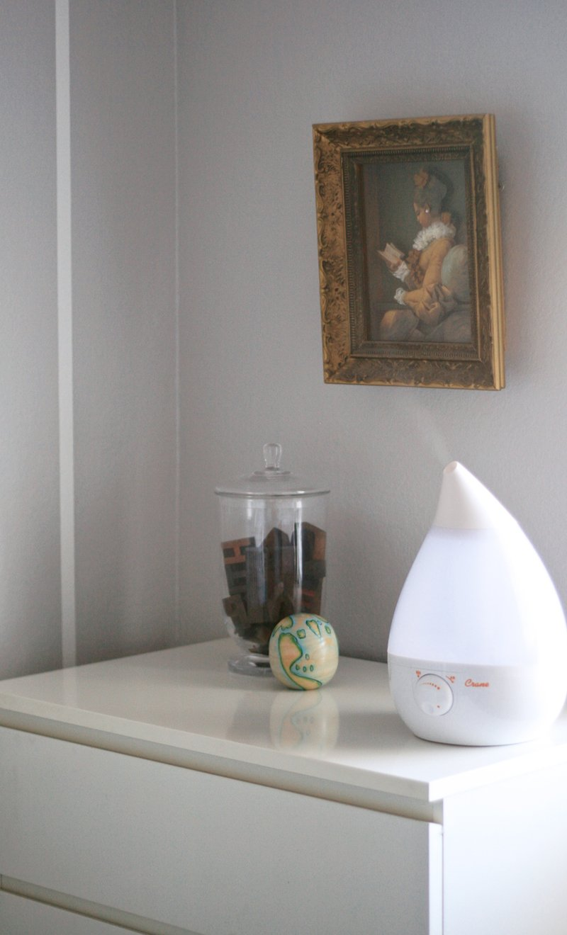 The Prettiest Humidifer & Important Cleaning and use Facts at PagingSupermom.com #humidifiers #babynursery #tutorials