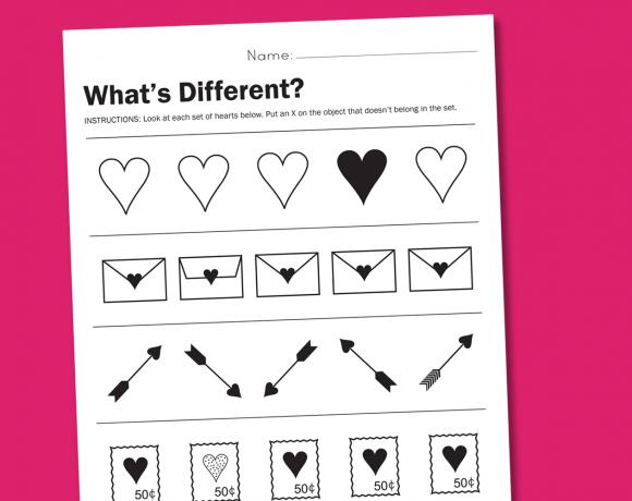 cute worksheets at PagingSupermom.com #valentine #worksheet
