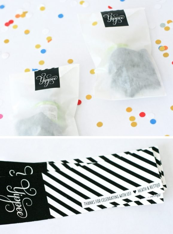 Baby Gender Reveal Party Favor Ideas PagingSupermom.com #genderreveal #confetti