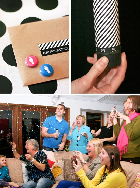 Confetti for the Big Gender Reveal with DIY Confetti Cannon tutorial at PagingSupermom.com #genderreveal #confetti