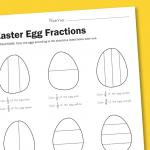Worksheet Wednesday: Easter Egg Fractions