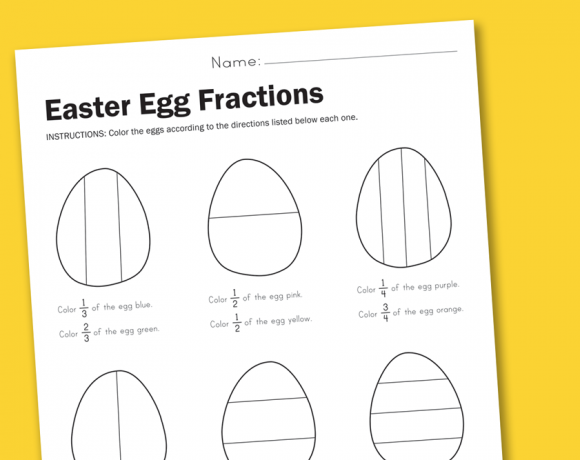 Worksheet Wednesday: Easter Egg Fractions