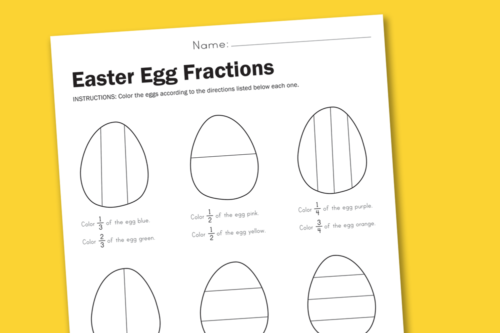 Worksheet wednesday easter egg fractions paging supermom ibookread ePUb
