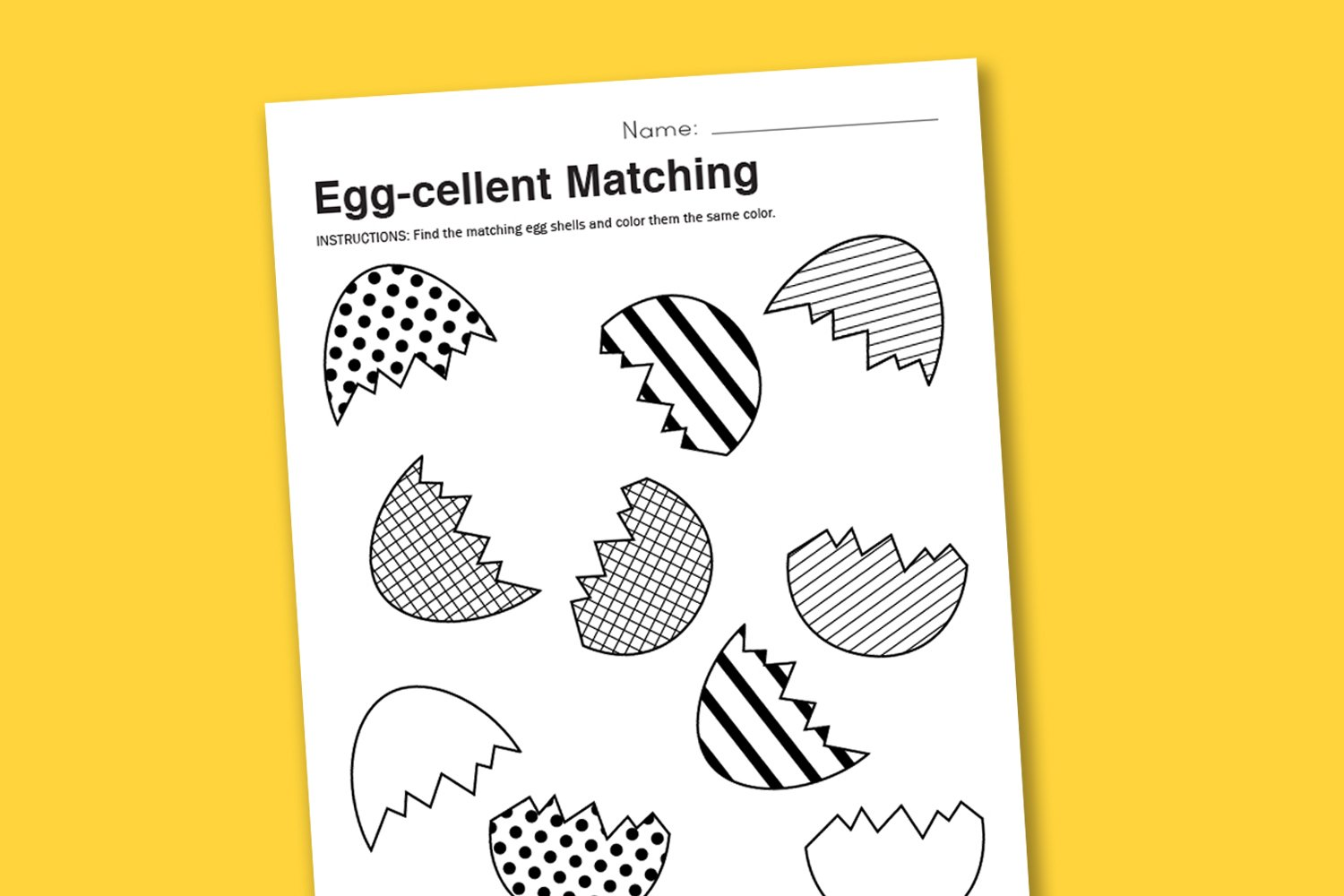 Egg-cellent Matching - Paging Supermom