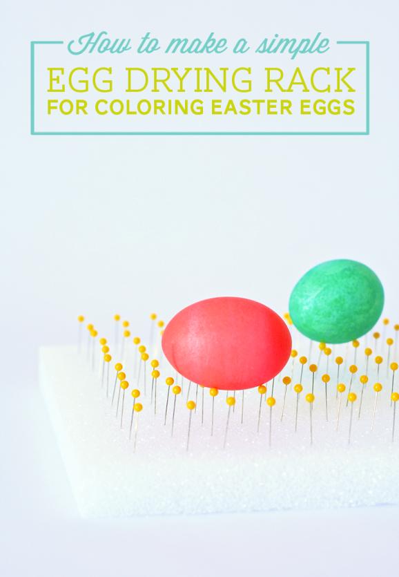 DIY Easter Egg Drying Rack from PagingSupermom.com #easter #eastereggs