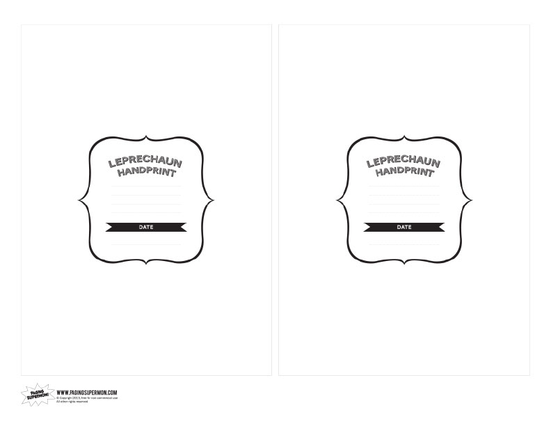 Free Printable Leprechaun Handprints Card at PagingSupermom.com #leprechaun