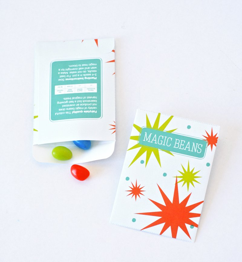 Free Printable Magic Beans Seed Packet at PagingSupermom.com #spring #easter #magicseeds #magicbeans