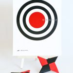 DIY Ninja Star Throwing Game and more ninja ideas at PagingSupermom.com #ninja #printable
