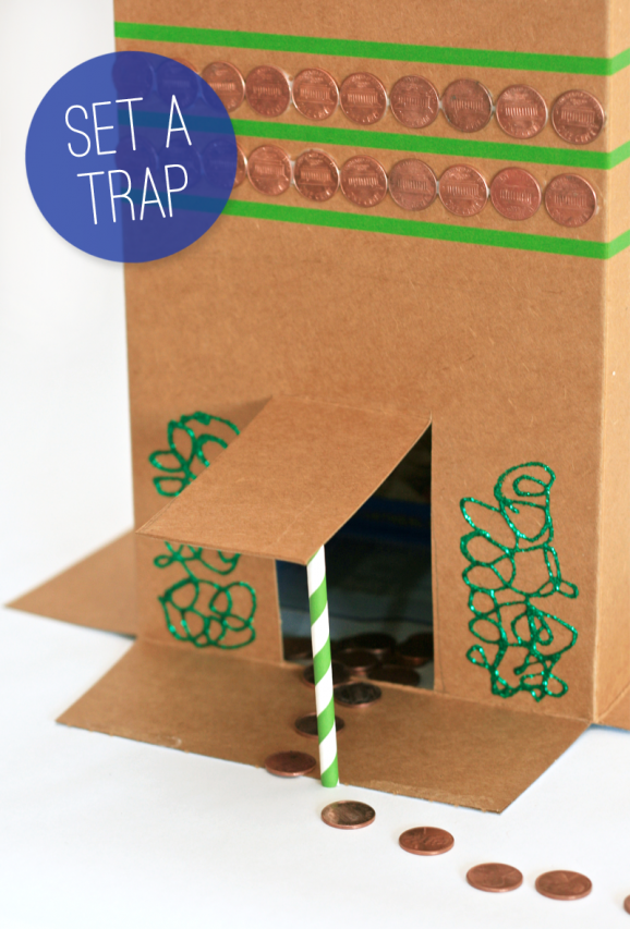 Fun St. Patricks Day Tradition - Set a Leprecahun Trap. See how at PagingSupermom.com #stpatricksday #leprechaun #kidscrafts