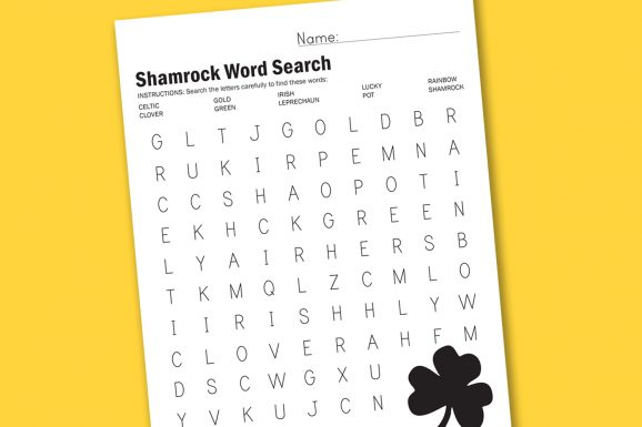 St Patrick's Day Word Search and other fun worksheets at PagingSupermom.com #worksheet #stpatricksday