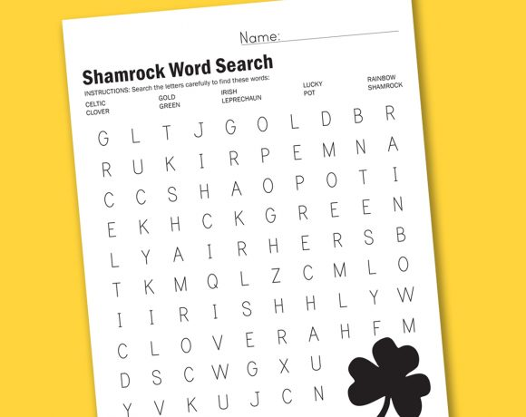 Shamrock Word Search