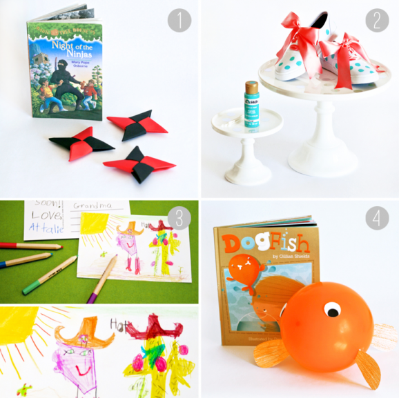 Ideas to Bring Four Favorite Books to Life at PagingSupermom.com #books #kidscrafts #springbreak