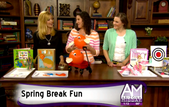 Ideas for Spring Break Fun from PagingSupermom.com #books #kidscrafts
