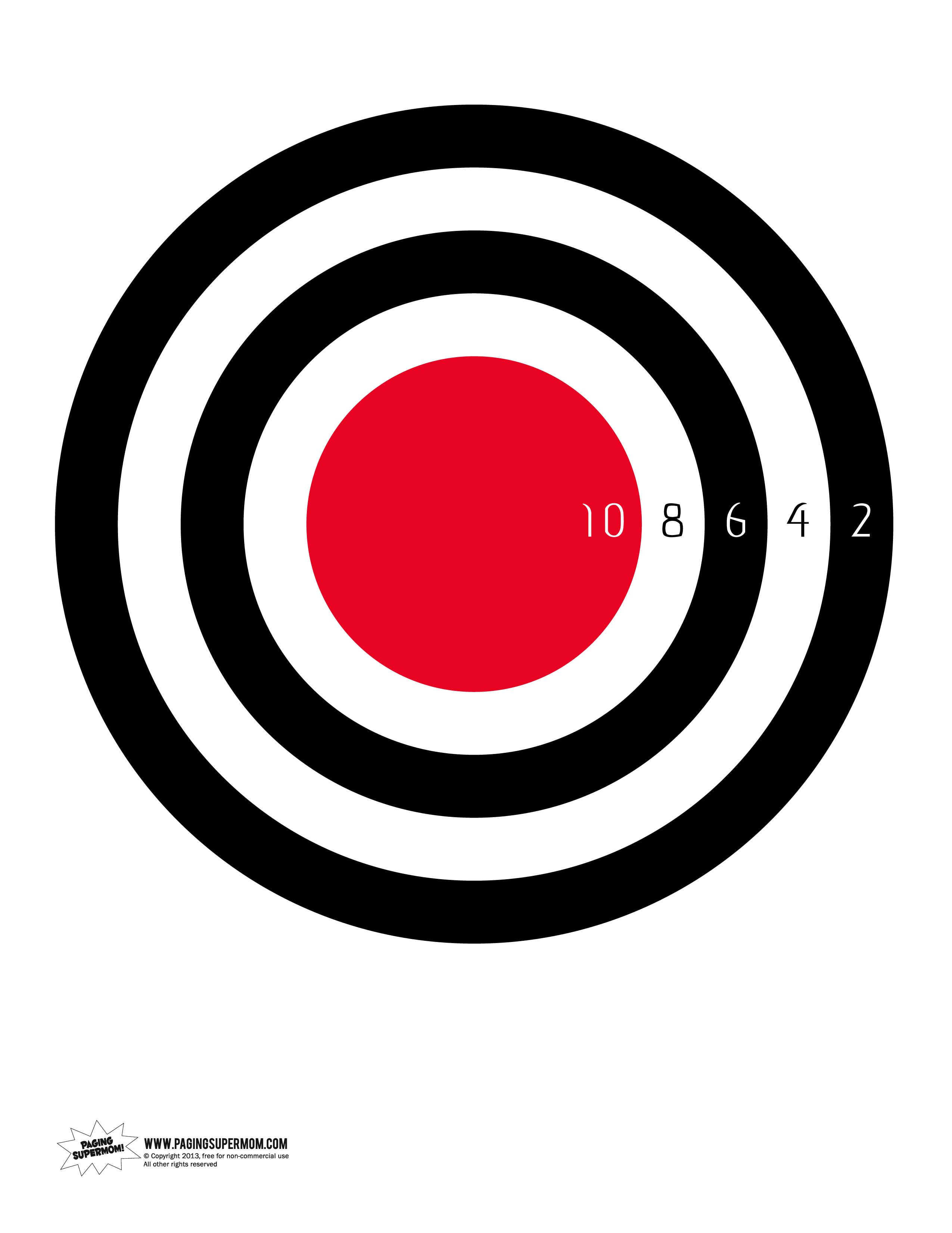 Game Target Printable