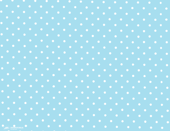 Free Printable Blue and White Polka Dot Pattern Print