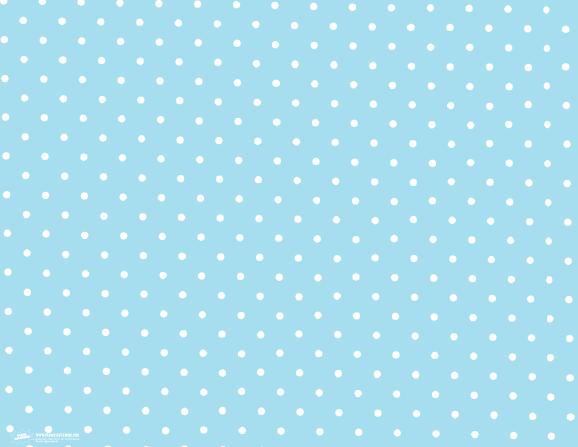 Free Printable Blue and White Polka Dot Pattern Print