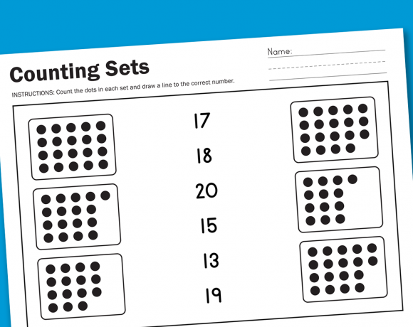 Free Counting Worksheet -- a new free worksheet every Wednesday from PagingSupermom.com #freeworksheets #worksheetwednesday #preschool