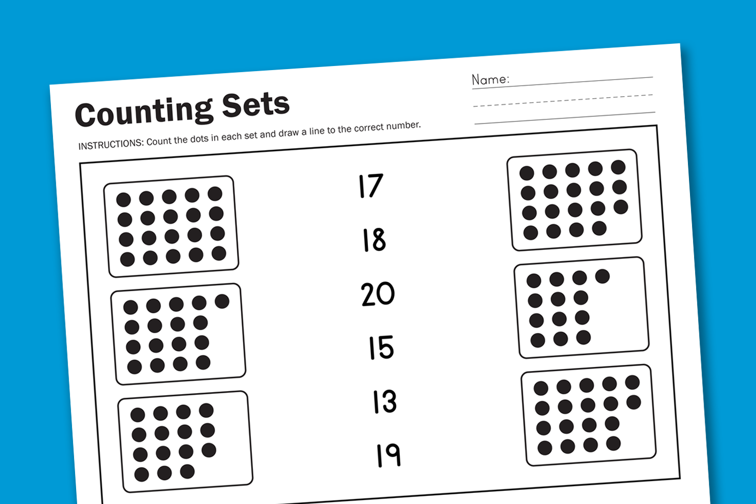 worksheet wednesday counting sets paging supermom