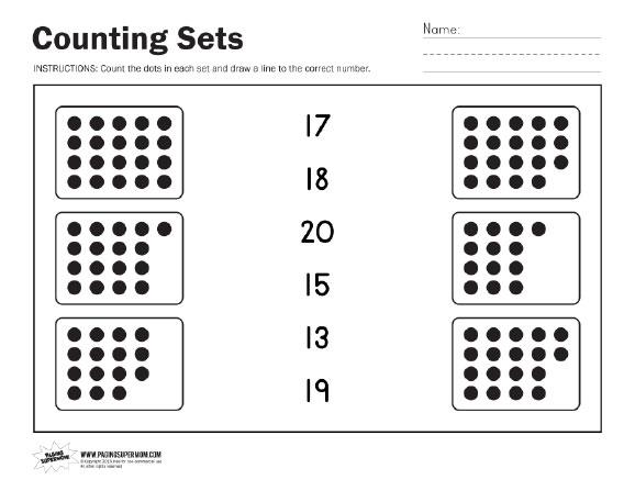 pre school worksheets counting number sets worksheets free printable worksheets for pre. Black Bedroom Furniture Sets. Home Design Ideas