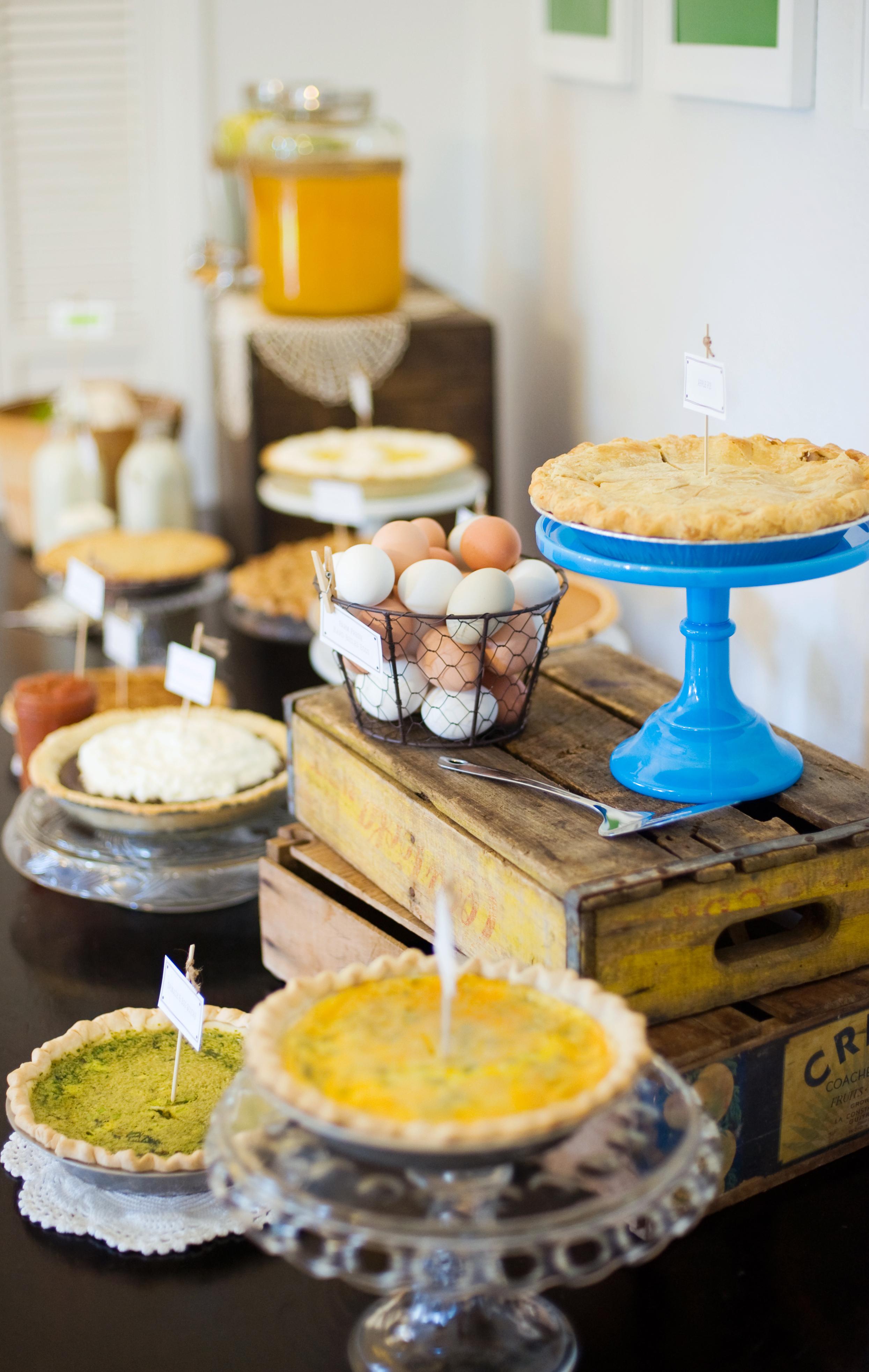 Farm Boy Baby Shower Pie Bar via @pagingsupermom