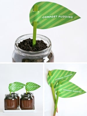Earth Day Treat - Compost Pudding from PagingSupermom.com