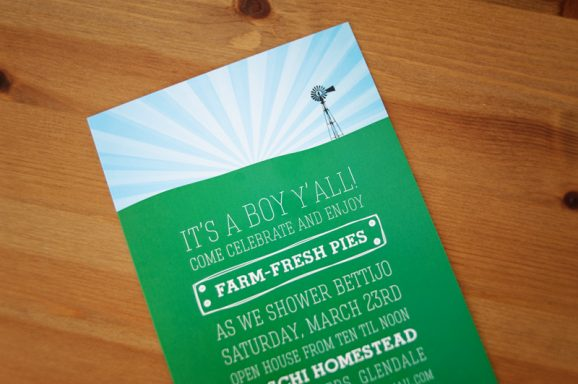 Farm Boy Baby Shower Invitation at PagingSupermom.com #babyshowerideas #babyboy