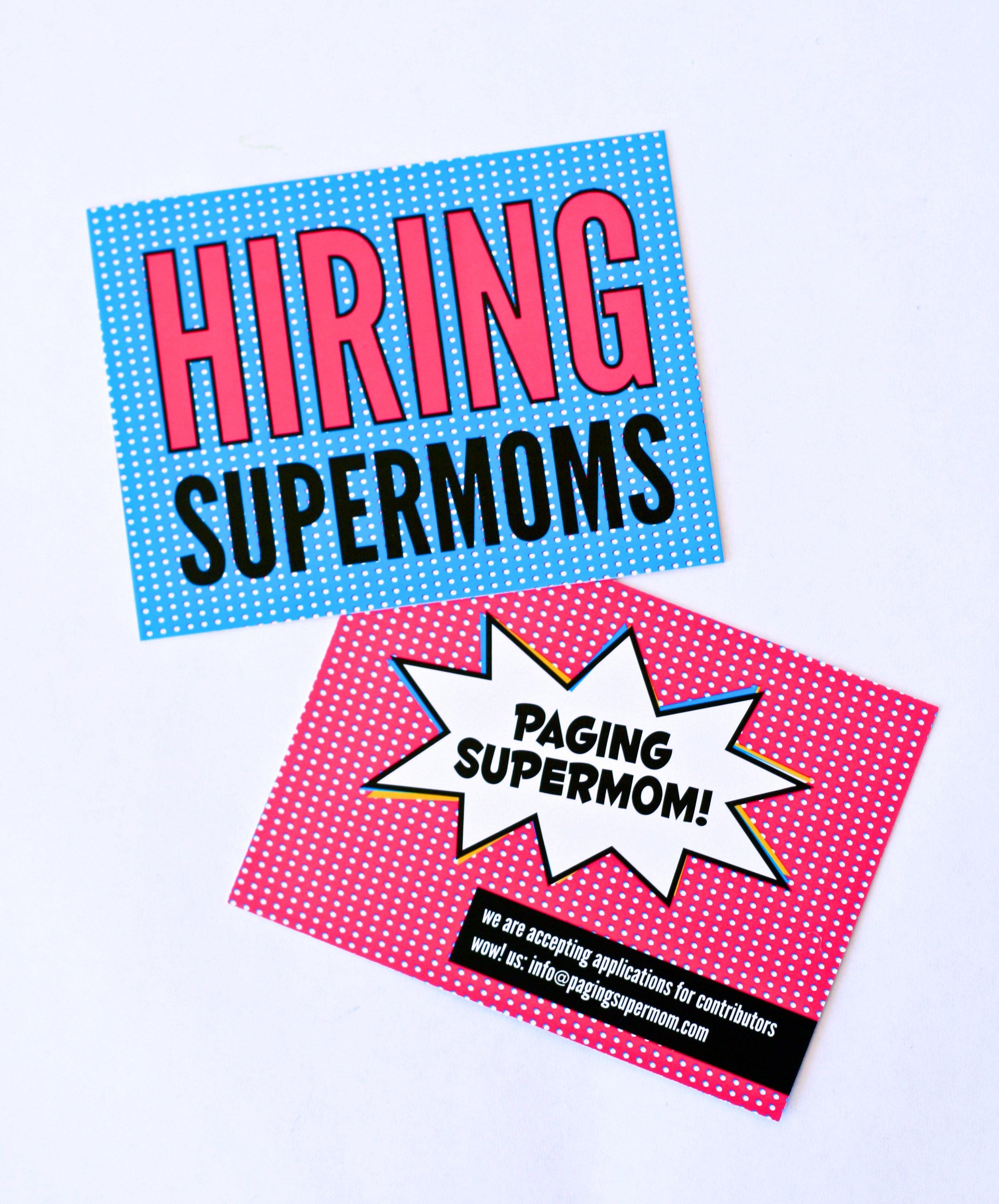 Hiring Supermoms to contribute to PagingSupermom.com