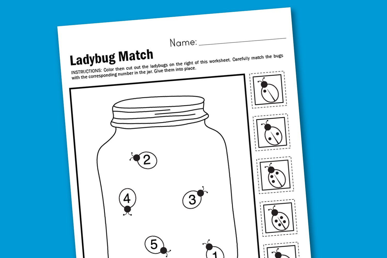 Worksheet Wednesday Ladybug Matching Paging Supermom
