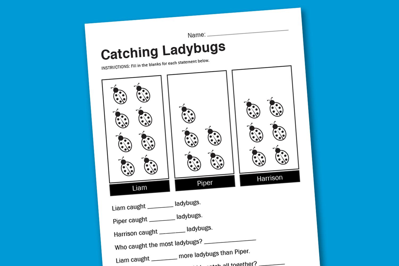 Worksheet Wednesday: Catching Ladybugs - Paging Supermom