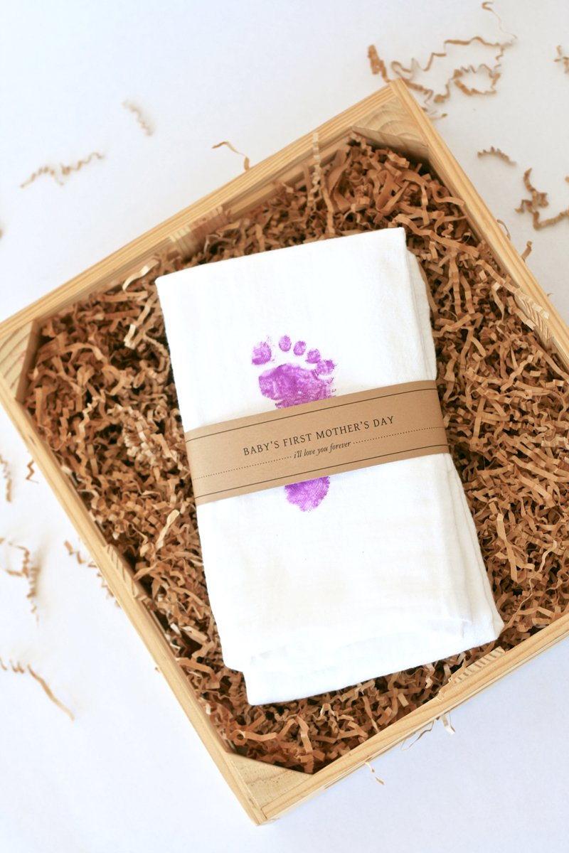 Mother's Day Baby Footprint Towels