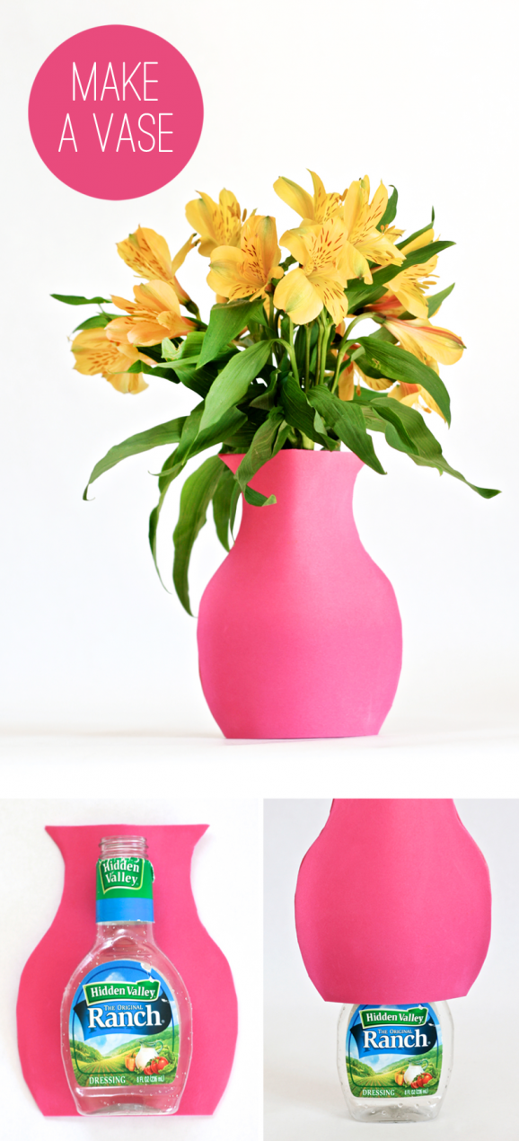 how to make a recycled magazine vase