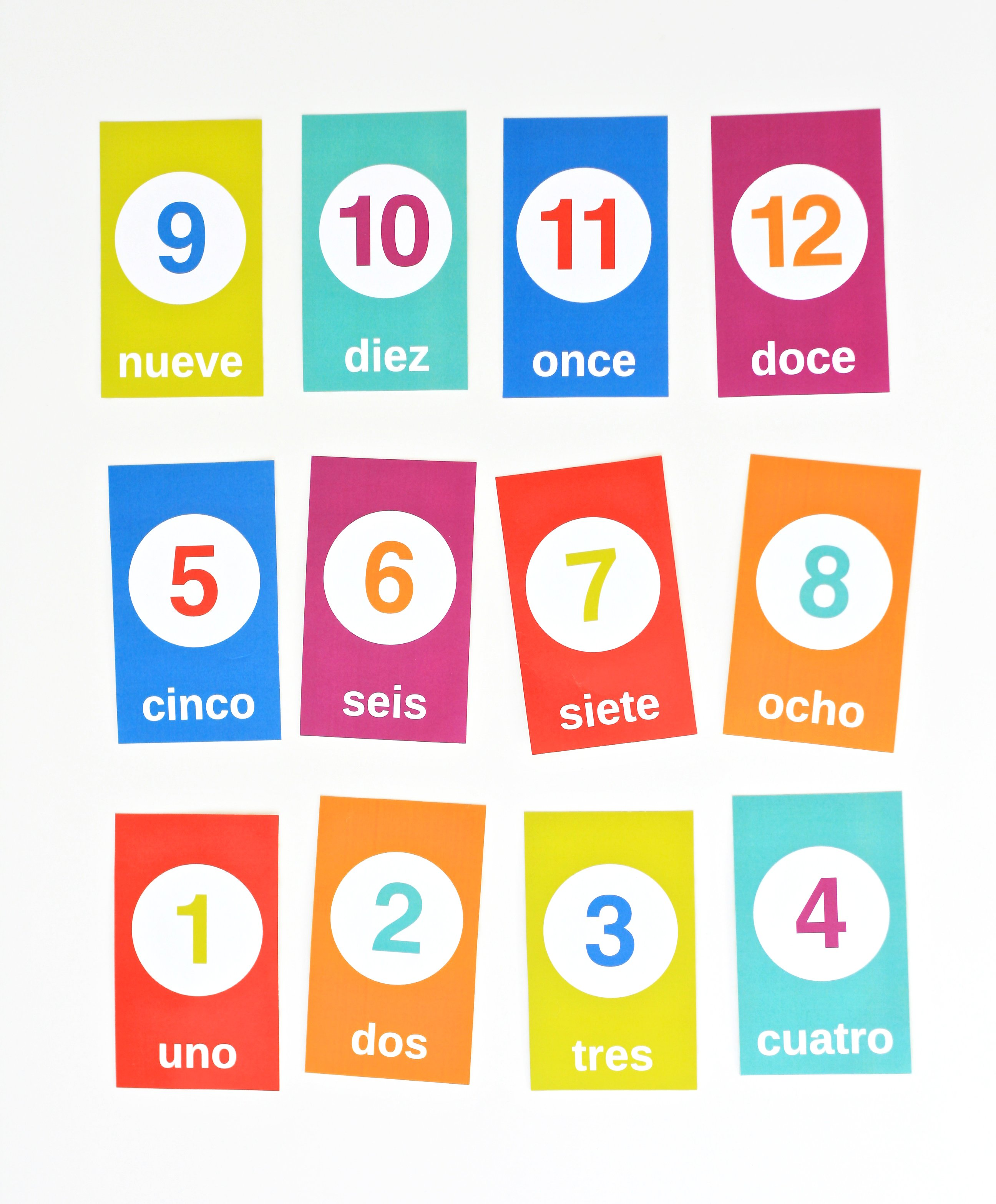 Spanish Counting Flashcards