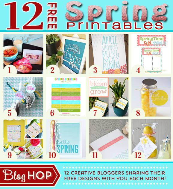 12 Free Printables for Spring! PagingSupermom.com